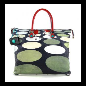 GABS G3 Super Line Medium Leather Handle Bag with Pois Print