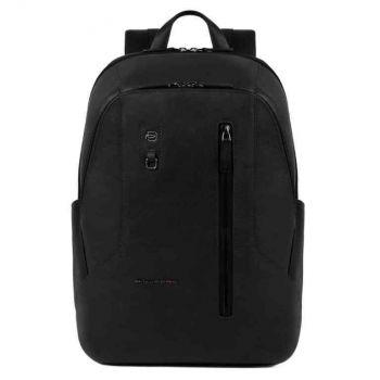 PIQUADRO Hakone Line – Black Leather Backpack CA4980S104