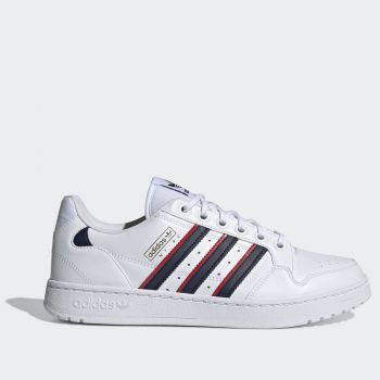 ADIDAS NY 90 Stripes Line – White Blue Red Leather Sneakers