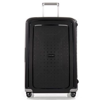 SAMSONITE Trolley Hard Shell Large Size 4 Wheels 75 cm S'Cure Black Line