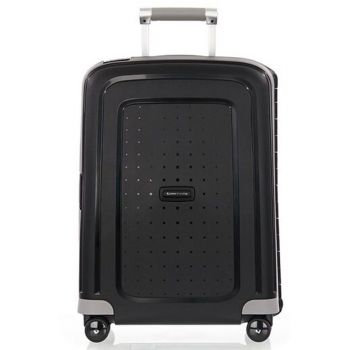 SAMSONITE Trolley Hard Shell Cabin Size 4 Wheels 55cm S'Cure Black Line