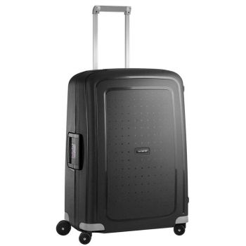 SAMSONITE Trolley Hard Shell Medium Size 4 Wheels 69 cm S'Cure Black Line