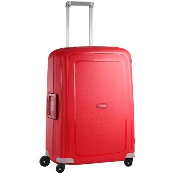 SAMSONITE Trolley Hard Shell Medium Size 4 Wheels 69 cm S'Cure Crimson Red Line
