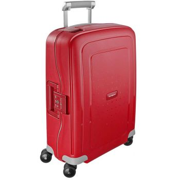 SAMSONITE Trolley Hard Shell Cabin Size 4 Wheels 55cm S'Cure Crismon Red Line