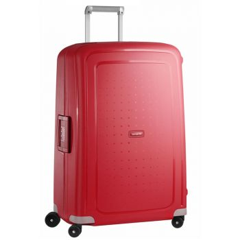 SAMSONITE Trolley Hard Shell Large Size 4 Wheels 75 cm S'Cure Crimson Red Line