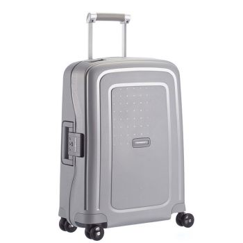 SAMSONITE Trolley Hard Shell Cabin Size 4 Wheels 55cm S'Cure Silver Line