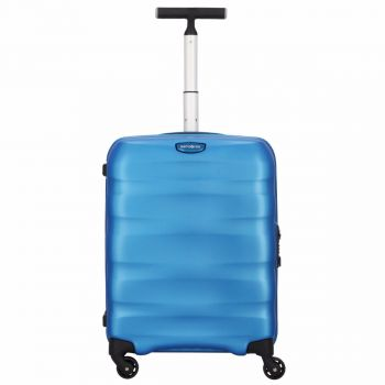 SAMSONITE Trolley Hard Shell Cabin Size 4 Wheels 55cm Engenero Cielo Blue Line