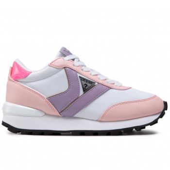 GUESS Samsin Line – White and Pink Sneakers