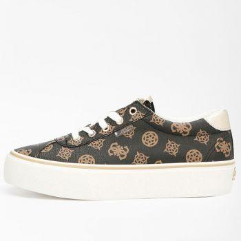 GUESS Sanam Line – Brown/Ochre Sneakers