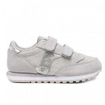 Saucony Sneakers Jazz Double HL Kids Line – Silver Metallic Sneakers