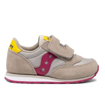 Saucony Baby Jazz HL Line – Taupe - Burgundy Sneakers