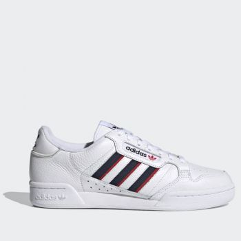 ADIDAS Continental 80 Stripes Line – White Blue Navy Red Leather Sneakers for Men