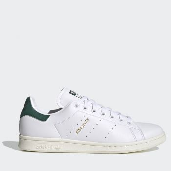 ADIDAS Stan Smith Line – White Dark Green Faux Leather Sneakers