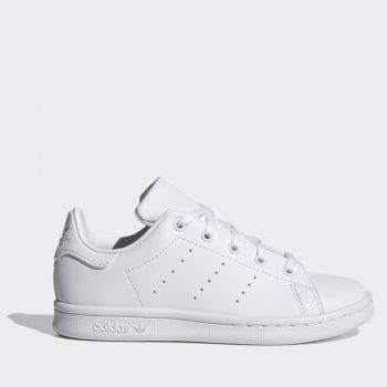 ADIDAS Stan Smith C Line – White Faux Leather Sneakers for Kids