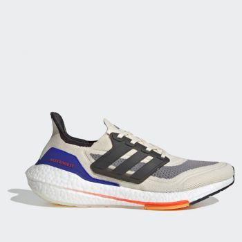 ADIDAS Ultraboost 21 Line – White Black Red Fabric Sneakers for Men