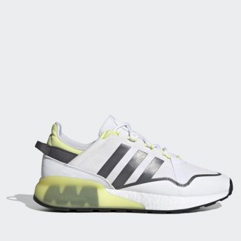 ADIDAS ZX 2K Boost Pure Line – White Grey Yellow Fabric Sneakers for Men