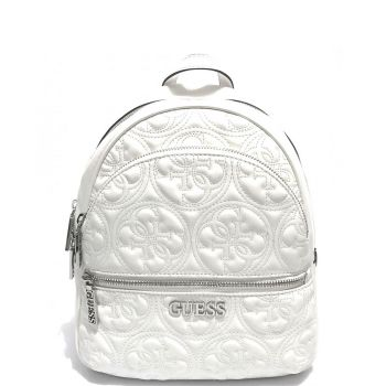 GUESS White Woman Backpack Manhattan Line