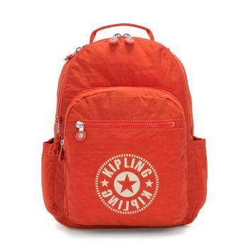 "KIPLING Seoul Line - Funky Orange Nc Fabric Unisex 15,6"" Laptop Backpack"