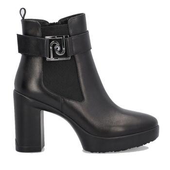 LIU JO Black Leather Boots SF1181