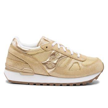 Saucony Shadow Original Kids Line – Gold Metallic Sneakers