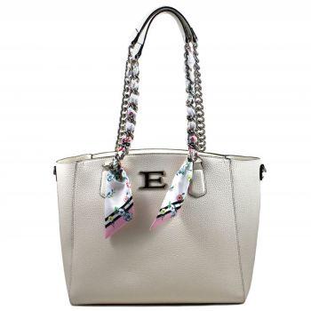 ERMANNO SCERVINO White Woman Shopping Shoulder Bag Eba Summer Line