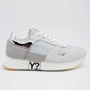 Y Not Hollywood Line – Silver Sneakers for Women