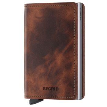 SECRID Vintage Line - Brown Leather Slimwallet with RFID