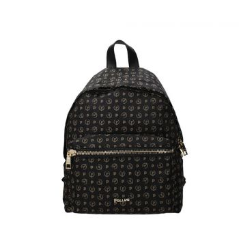 POLLINI Heritage Soft Line – Black Fabric Backpack for Her