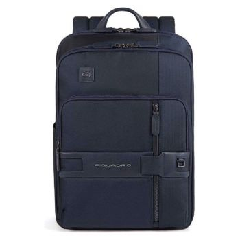 PIQUADRO Tokyo Line – Blue Leather and Fabric Backpack CA4918S107