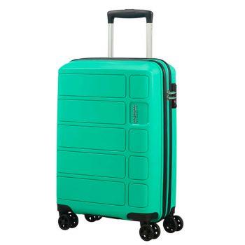 Cabin Trolley 55cm 4-wheel 2,5kg - American Tourister Summer Splash Mint
