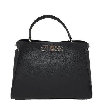 GUESS Black Woman Handbag Uptown Chic Line