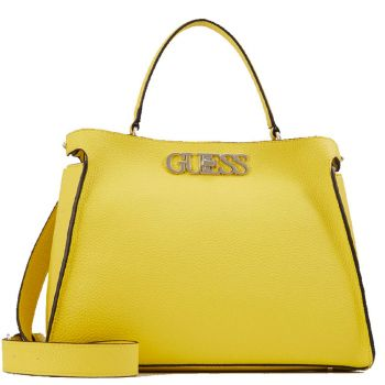 GUESS Yellow Woman Handbag Uptown Chic Line Large Size