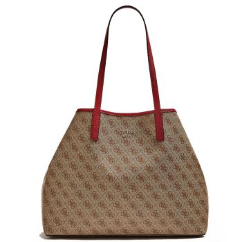 GUESS Vikky Line – Large Brown Tote Bag for Women