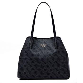 GUESS Vikky Line – Medium Coal Tote Bag for Women