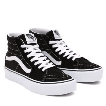 VANS Sk8-Hi Platform 2.0 Line – Suede Black White Sneakers for Women