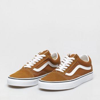 VANS Old Skool Line – Golden Brown Suede Sneakers
