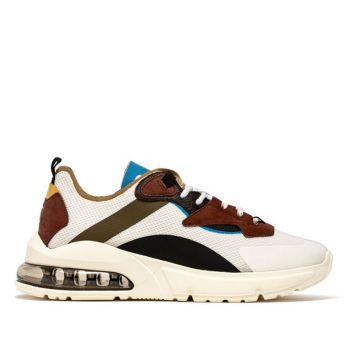 D.A.T.E. Aura Net Line – White Army Sneakers
