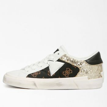 GUESS Westley Line – Brown Sneakers with Glitter Details