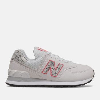 NEW BALANCE 574 Line – White Coral Leather Sneakers for Women