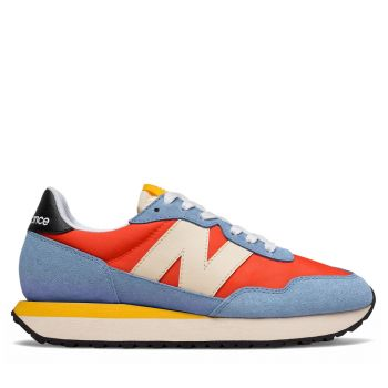 NEW BALANCE 237 Line – Orange Blue Suede and Mesh Sneakers for Women