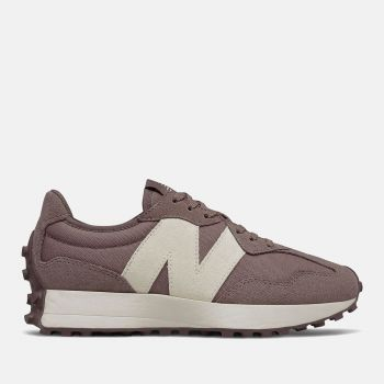 NEW BALANCE 327 Line – Black Fig Suede Nylon Sneakers for Women