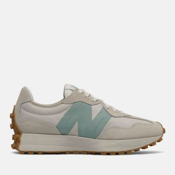 NEW BALANCE 327 Line – Moonbeam Storm Blue Suede and Mesh Sneakers