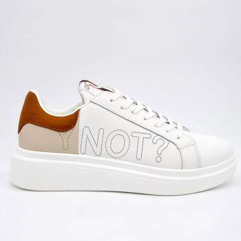 Y Not White Beige Sneakers for Women