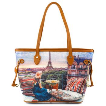 Y NOT Woman Shopping Bag YES Line  YES-336 Paris View
