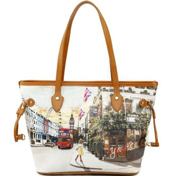 Y NOT Woman Shopping Bag YES Line  YES-336 London Pub