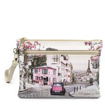 Y NOT YES-343 Line – Medium Pouch with Paris Charleston Print