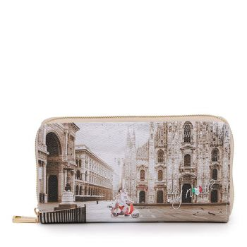 Y NOT YES-361 Line – Zip Around Wallet with Milano Classic Print