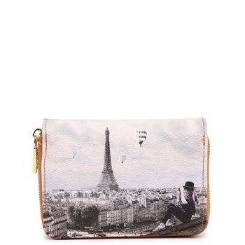 Y NOT YES-362 Line – Compact Wallet with Ciel De Paris Print