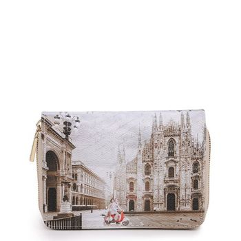 Y NOT YES-362 Line – Compact Wallet with Milano Classic Print