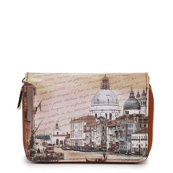 Y NOT YES-362 Line – Compact Wallet with Venezia Canal Grande Print